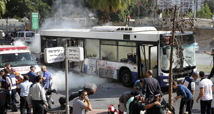 A bus bombed in Tel Aviv as Gaza fighting escalates