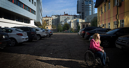Getting around Moscow still an uphill battle for its disabled citizens