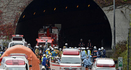 Tunnel collapses in Japan, at least seven still missing