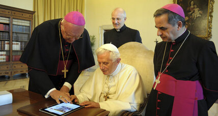 The pope joins the twitterverse as @pontifex