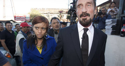 Guatemalan police arrest John McAfee (+video)