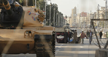 Egypt's army moves to clear demonstrators from presidential palace