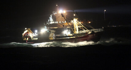 Cargo ship sinks in North Sea, search continues for survivors