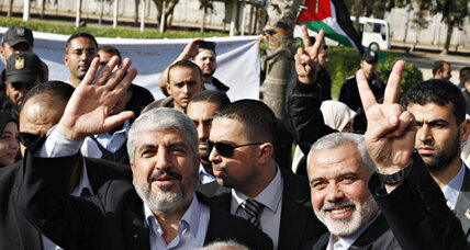 With Hamas's confidence waxing, Khaled Meshaal arrives in Gaza