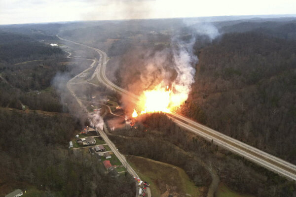 Natural Gas Line Explosion In West Virginia