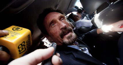 Software pioneer John McAfee deported from Guatemala, lands in Miami