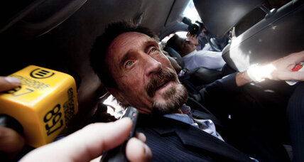 McAfee's odyssey continues as he returns to US, wants to 'settle down' (+video)