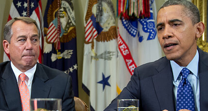 With wide gap, Obama and Boehner meet for 'fiscal cliff' talks