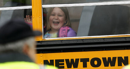 Newtown students return to school (+video)