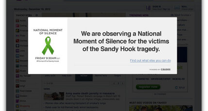 Websites go dark: Moment of silence honors Sandy Hook victims