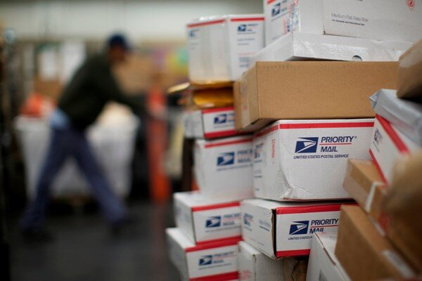 packages wait for delivery at the united states postal services lincoln park carriers annex in chicago last month the usps is the cheapest way to ship