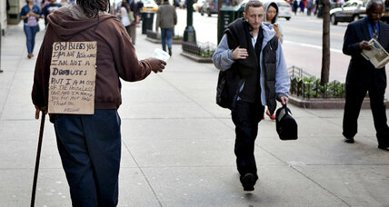 Give to people on the street? In cities, it's a daily dilemma
