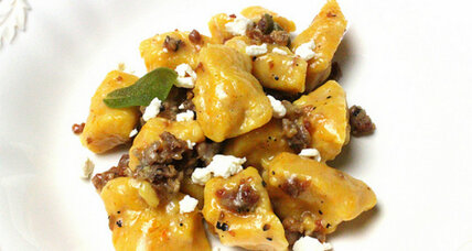 Butternut squash gnocchi with sausage and sage
