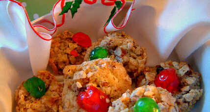 Cherry Winks Christmas cookies
