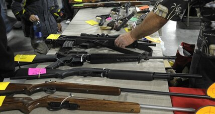 Gun enthusiasts pack shows to buy assault weapons