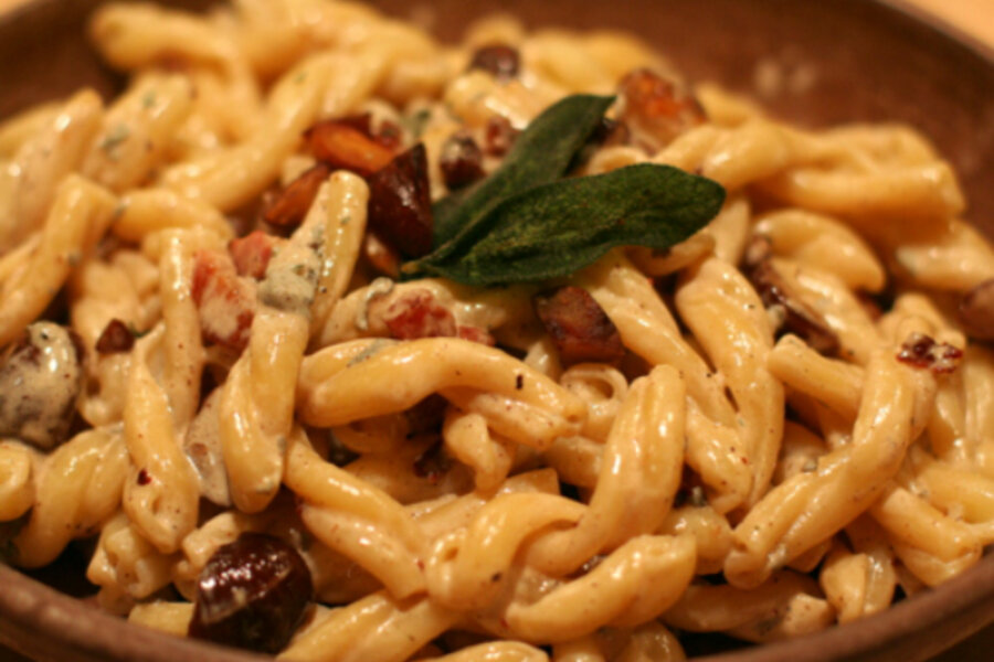 Pasta with chestnuts, pancetta, and sage - CSMonitor.com