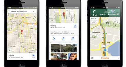 After short absence, Google Maps returns to the Apple iPhone (+video)