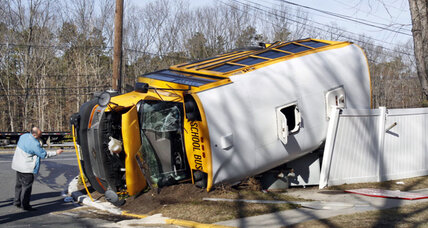 Commuter bus collides with school bus in N.J., 17 injured