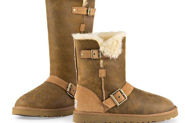 This Undated Image Provided By Ugg Shows A Dylyn Tall And Short Boot In Chestnut Er Inga Nd Disointing Holiday Season Have Led To