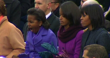 Sasha Obama yawn at Obama's inauguration goes viral (+video)