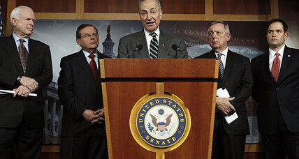 Immigration reform: 'This will be the year,' bipartisan Senate 'gang' says (+video)
