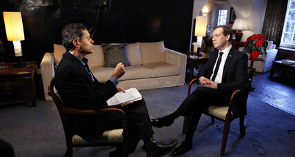 Russian PM Medvedev says odds against Assad's political survival
