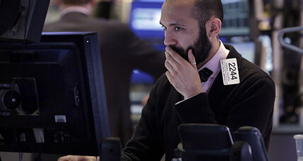Stock rally brakes on news of 4Q contraction