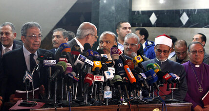 A first step toward calming Egypt? Political leaders renounce violence