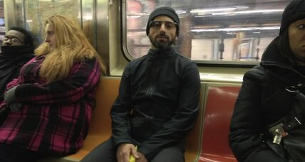 Sergey Brin takes Google Glass on a spin through the NYC subway