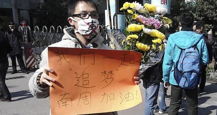 China censorship protest as 'living in truth'