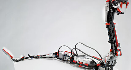 New Lego robot has bricks for bones, an iPhone for a brain