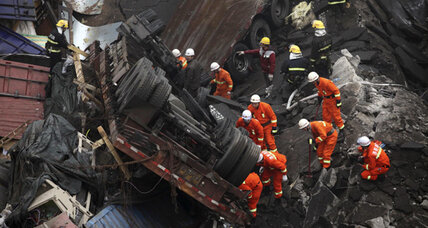 China fireworks truck explosion causes deadly highway collapse