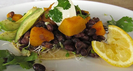 Meatless Monday: Squash and black bean tostados