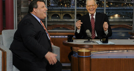 Chris Christie eats doughnut on Letterman. Was he making a point? (+video)