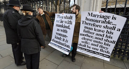 Gay marriage bill debated in UK Parliament
