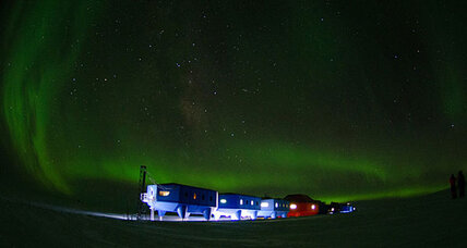 New British Antarctic research base travels on skis