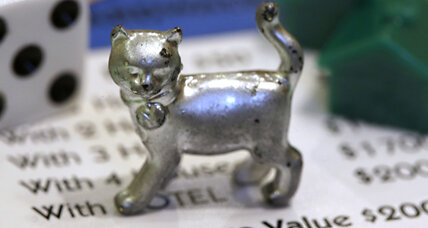 Monopoly game piece: in with the cat, out with the iron (+video)