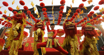 Chinese welcome Year of the Snake in style