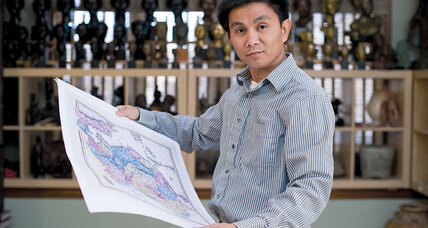 Thang Dinh Tran loves maps and Vietnam. That may put him in the eye of a storm.