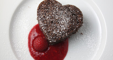 World's simplest homemade fudgey brownies and raspberry coulis