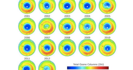 Ozone hole shrinks to new low
