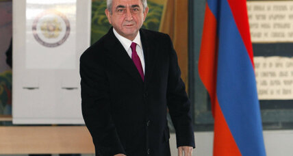 Exit poll: Armenian president reelected