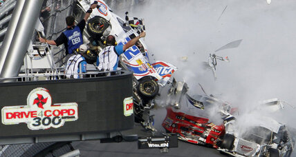Fans in disbelief after NASCAR crash