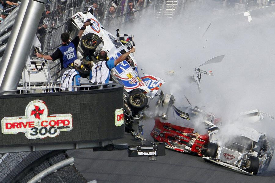 Fans in disbelief after NASCAR crash - CSMonitor.com
