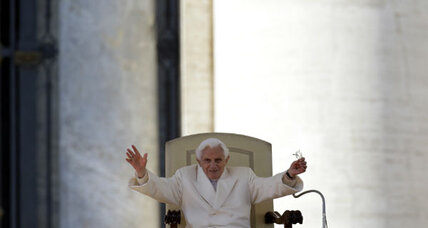 Pope Benedict bids emotional farewell