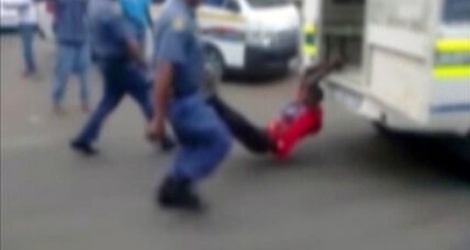 South Africa police face scrutiny after video of dragging goes viral