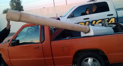 Marijuana cannon: Mexican police confiscate improvised border drug cannon