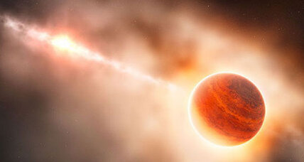 Telescope spots formation of alien planet
