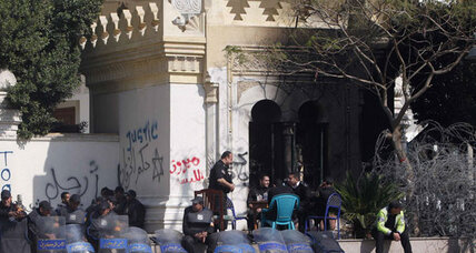 Chaos and police brutality at Egypt's presidential palace