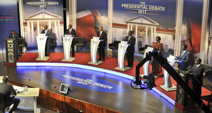 Kenyan candidates trade barbs in first ever presidential debate